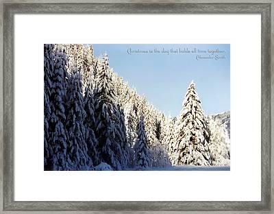 Winter Wonderland Austria Europe Framed Print by Sabine Jacobs