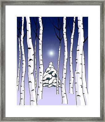 Winter Woods 1 Framed Print