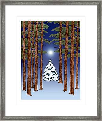 Winter Woods 2 Framed Print
