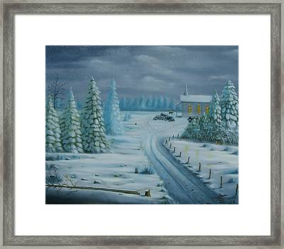 Winter Worship  Framed Print