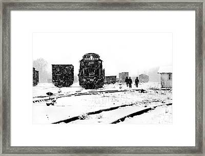 Framed Print featuring the photograph Winter Yard by Mike Flynn