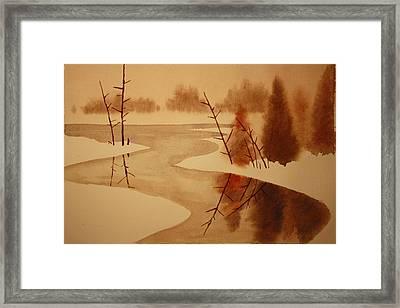 Winterbend Framed Print