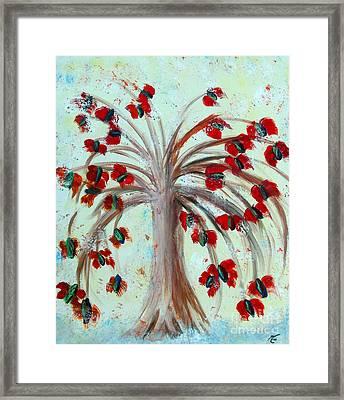 Winterblooms Framed Print by Ayasha Loya