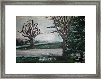 Winterland Slumber Framed Print by Paula Cork