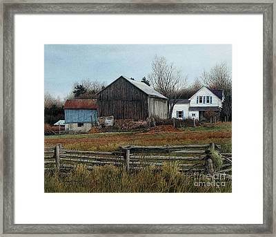 Winters Approaching Framed Print