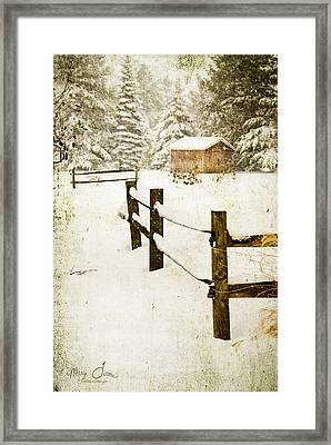 Framed Print featuring the digital art Winter's Beauty by Mary Timman