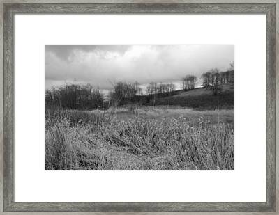 Framed Print featuring the photograph Winters Breeze by Kathleen Grace