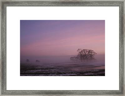 Framed Print featuring the photograph Winters Eve by David Grant