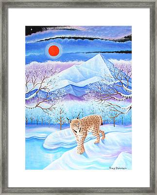 Winter's Eve Framed Print by Tracy Dennison
