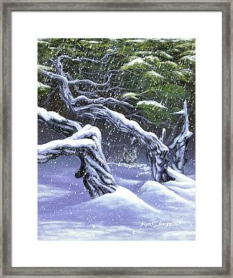 Winters Ghost Framed Print by Kurt Jacobson