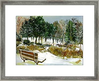 Winter's Invitation Framed Print