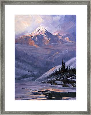 Winters Kiss Framed Print by Kurt Jacobson