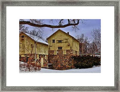 Framed Print featuring the photograph Winters Mill by Rachel Cohen