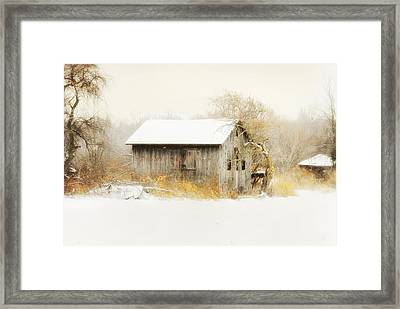 Framed Print featuring the photograph Winters Rage by Mary Timman