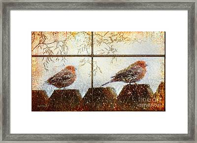 Framed Print featuring the digital art Winter's Song by Rhonda Strickland