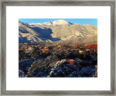 Wintery Colorado Morning Framed Print