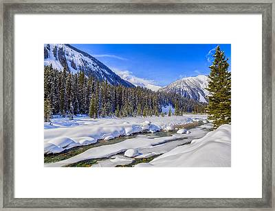 Wintery Numa Creek Framed Print