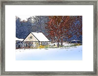 Winther In The Wood Framed Print by Jakup Reinert Hansen