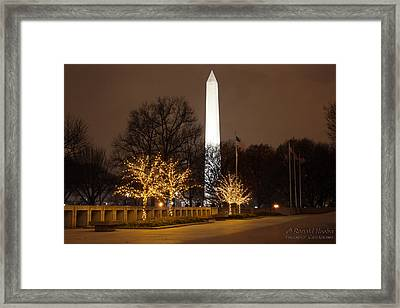 Wintry Monument Framed Print