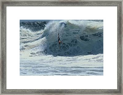 Wipe Out At Wedge Framed Print