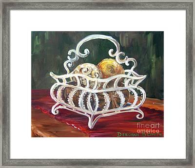 Wire Basket Framed Print by Deborah Smith