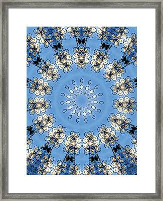 Wire Flowers And Butterflies Framed Print by Kristie  Bonnewell