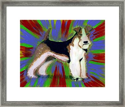Wire Fox Terrier Framed Print by Char Swift