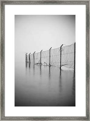 Wire Mesh Fence Framed Print