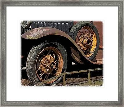 Wire Wheels Framed Print by Steve McKinzie