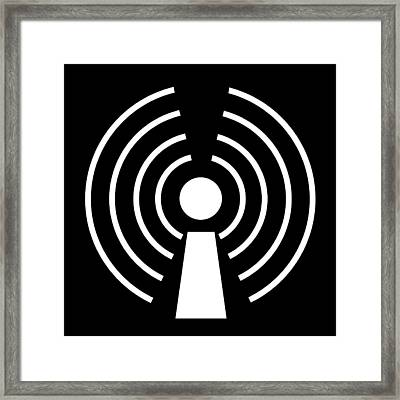 Wireless Internet Symbol Framed Print by