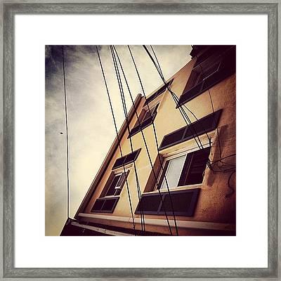 Wirestorm Framed Print