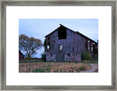 Wisconsin Barn Framed Print by Kristine Bogdanovich