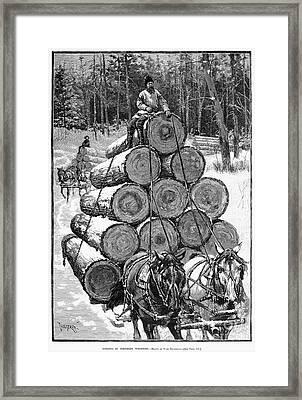 Wisconsin: Lumbering, 1885 Framed Print