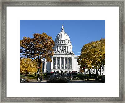 Wisconsin State Capitol Building Framed Print by Keith Stokes