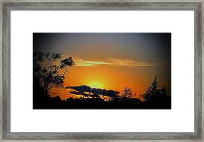 Wisconsin Sunset Framed Print