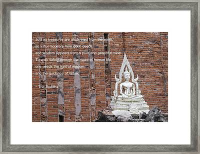 Wisdom And Virtue Framed Print by Gregory Smith