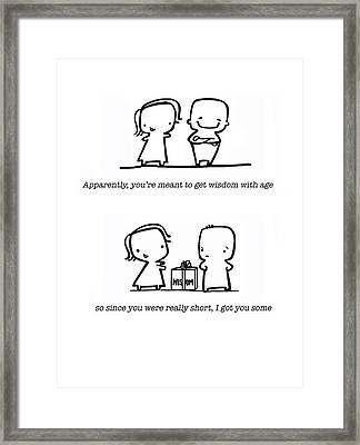 Framed Print featuring the drawing Wisdom by Leanne Wilkes