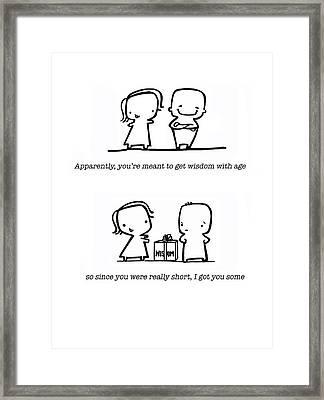 Wisdom Framed Print by Leanne Wilkes