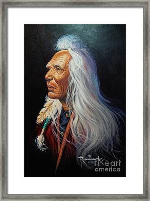 Wisdom Of The Plains Framed Print by Ramon Ramirez
