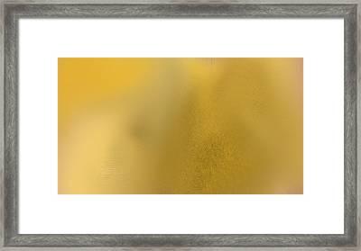 Wise Golden Yellow Framed Print by Rosana Ortiz