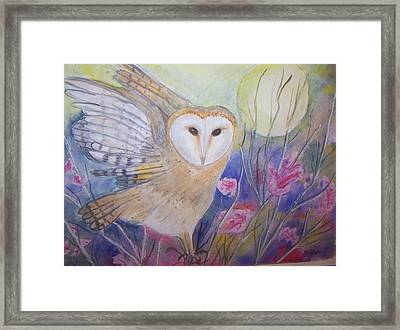 Wise Moon Framed Print