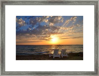 Wish You Were Here - Cyprus Framed Print