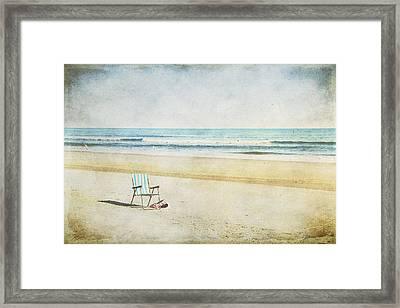 Wish You Were Here Framed Print by Christine Annas