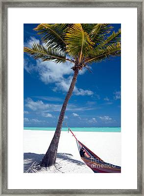 Wish You Were Here Framed Print by Karen Lee Ensley