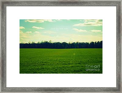 Framed Print featuring the photograph Wish You Were Here by Robin Dickinson