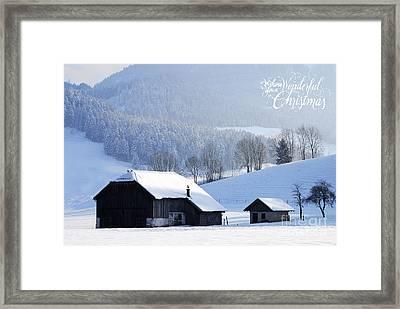 Wishing You A Wonderful Christmas Framed Print by Sabine Jacobs