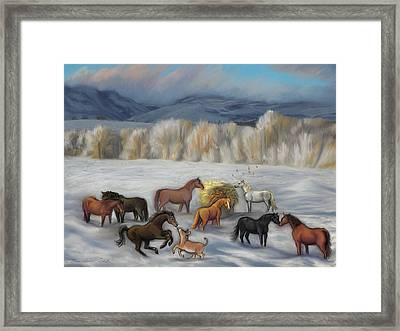 Wishing You Peace  Joy  Abundance And Love Throughout The New Year Framed Print by Dawn Senior-Trask
