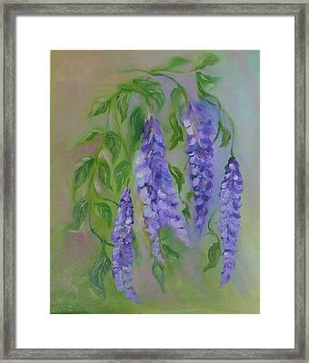 Framed Print featuring the painting Wisteria by Carol Berning