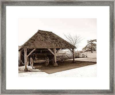 Wiston Wagon Shed Framed Print by Dawn OConnor