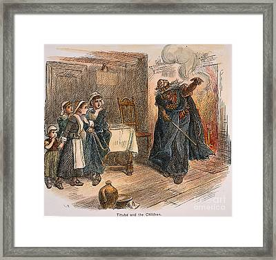 Witch Trial: Tituba, 1692 Framed Print by Granger